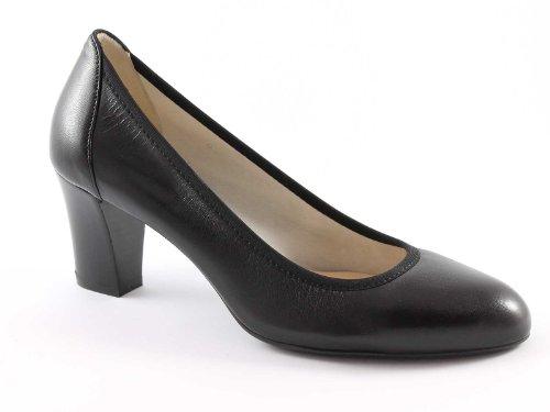MELLUSO D064 nero scarpe donna decolletè elasticizzato suola gomma 36