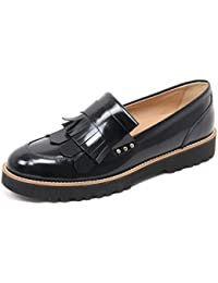 B6078 mocassino donna HOGAN H259 scarpa frangia nero shoe loafer woman d6172581e24