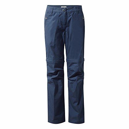 Craghoppers - C65 - Pantaloni 2 in 1 con protezione solare - Donna Blu navy
