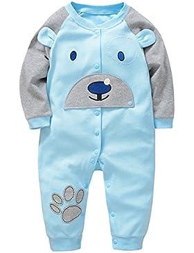 Bebone Baby Strampler Jungen Mädchen Overall langarm Baumwolle Babykleidung
