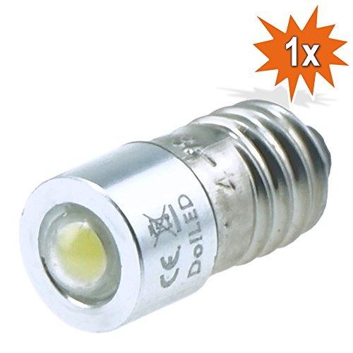 DoLED 0,85 Watt 4 - 8 Volt E10 LED Cree Birne Schraubsockel für Dynamo Betrieb, Wechselstrom- und Gleichstrombetrieb AC/DC