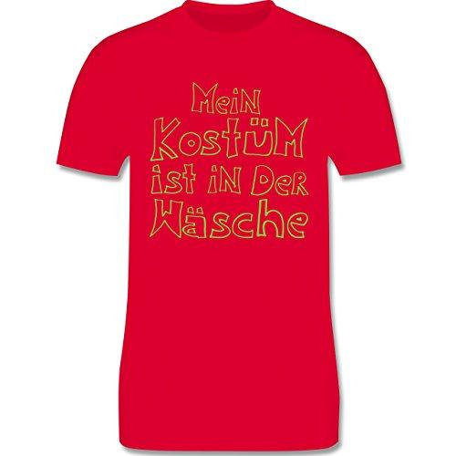 Karneval & Fasching - Mein Kostüm ist in der Wäsche - Herren Premium T-Shirt Rot