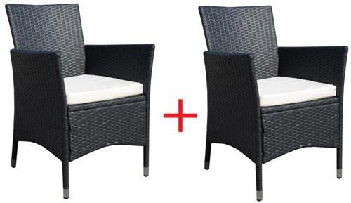 2 x Poly-Rattan Sessel Stuhl Stühle Gartenmöbel Rattansessel Rattanstühle Rattanstuhl Rattanmöbel