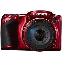 "Canon PowerShot SX420 IS - Cámara digital compacta de 20 Mp (pantalla de 3"", zoom óptico de 42x, NFC, WiFi), rojo"