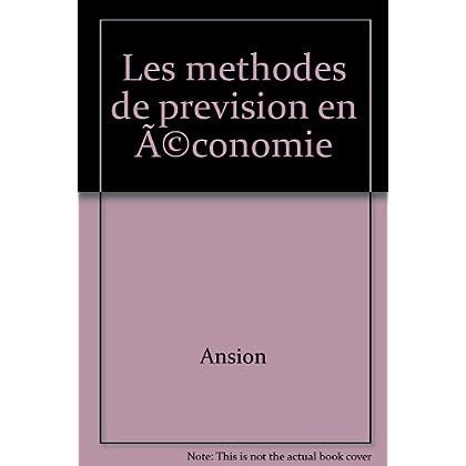 Les Méthodes de prévision en économie