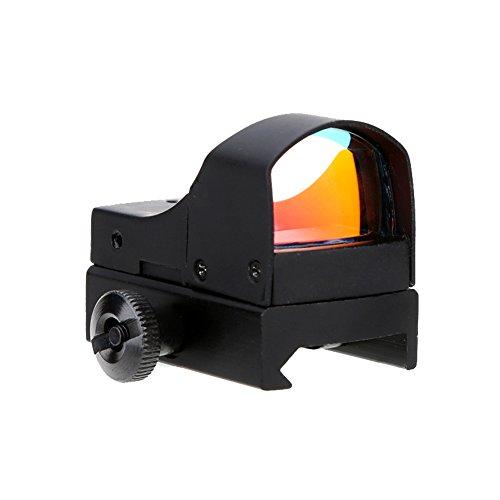 Lixada Einstellbare Helligkeit Rot Punkt Visie Leuchtpunkt Visier Zielvisier Taktisch Zielfernrohr Jagd Optik Reflex-Objektiv -