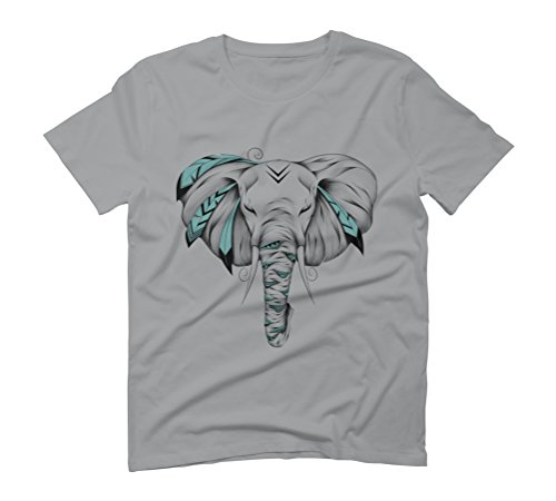Poetic Elephant Men's Graphic T-Shirt - Design By Humans Opal