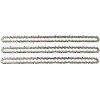 """3 tallox Chaînes de tronçonneuses à faible rebond 3/8"""" 1,3 mm 57 maillons longueur de guide-chaîne 40 cm compatible avec DOLMAR, ECHO, EINHELL, HITACHI et autres"""