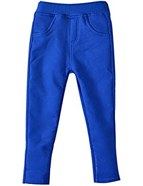 Niña Leggings Cintura Elástica Pantalones De Lápiz Plus Espesamiento Jeggings Leggins Azul Marino 120CM