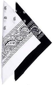 Men Women Sun Protection Bandanas, 2PC Floral Printed Breathable Sun Dust Protection Face Scarf Headwrap