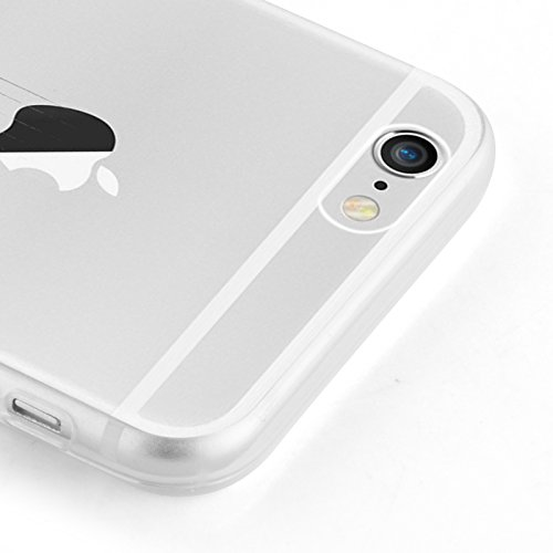 Cover iPhone 6, JAMMYLIZARD [Sketch] Custodia in Silicone Trasparente Semi Morbido Ultra Slim con Disegno per Apple iPhone 6 e Apple iPhone 6s, GATTO CHE SCIVOLA