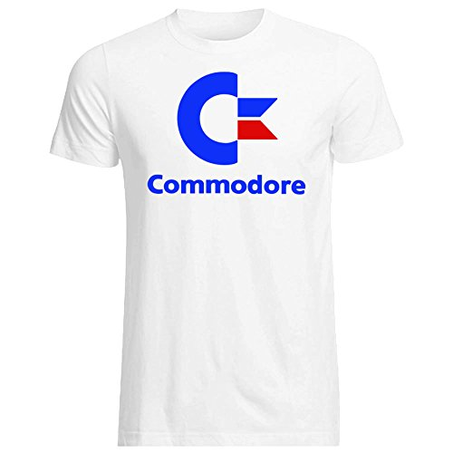 Commodore 1980 Logo T-shirt  - Black or White - S to XXXL