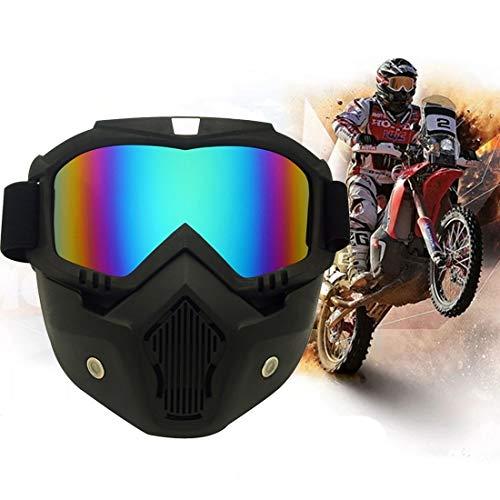 Yiph-Sunglass Sonnenbrillen Mode Motorrad-Offroad-Helmmaske Abnehmbare, Winddichte Brille (Farbe : Colour)