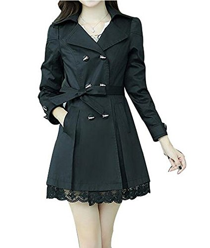 womens-double-breasted-bowknot-long-trench-coat-with-belt-and-lace-hem