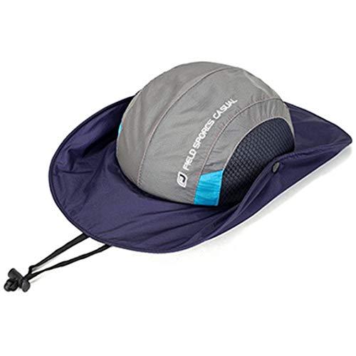 AROVON Bergsteigen-Eimer-Hut-runder geströmter Sommer-Hut-Fischen-breiter Rand-Hut-UVschutz-Kappen-Männer, die Sombrero wandern