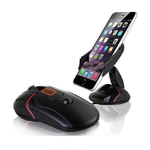 """LOUISWARE – Universal Auto / KFZ Halterung mit Flexible Winkel Einzustellen; 360 Grad drehbar mit Haftsauger für Windschutzscheibe, Armaturenbrett Halterung in Auto; 50 bis max. 100mm Breite für iPhone, Samsung, Huawei, HTC, Nokia, Sony, LG usw. passend für verschiedene Displaygrößen (4""""-5,5""""); Farbe schwarz"""