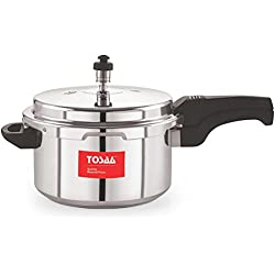 Tosaa Ultra Delux Aluminium Pressure Cooker, 5 Litres, Silver