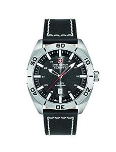 Swiss Military Reloj de Hombre de Cuarzo con Negro Esfera analógica Pantalla y Correa de Cuero Negro 6–4282.04.007 de Swiss Military