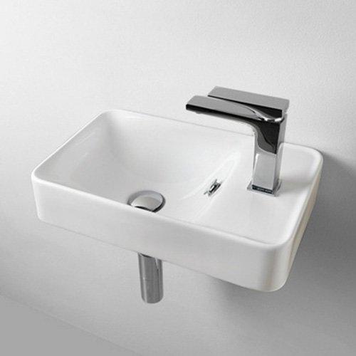 Waschbecken Waschtisch Handwaschbecken klein ausgesetzt Savon Keramik 45x 27,5cm - Waschtisch Waschbecken Base