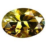 0,59 ct Ovalschliff (7 x 5 mm) unbehandelter grüner Tanzanit natürlicher loser Edelstein