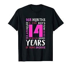 14. Geburtstag Hemd Tochter Nichte Geschenk 14 Jahre Mädchen T-Shirt