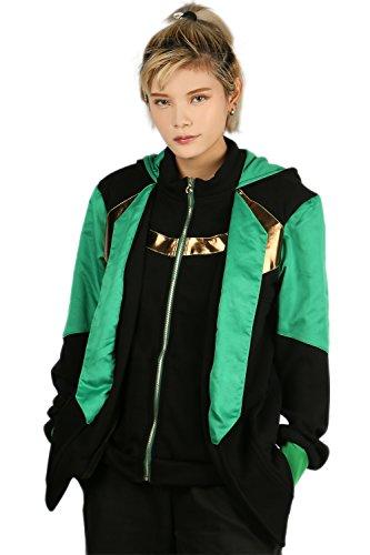 Cosplay Kapuzen Pullover Hoodie Herren Zip Jacke Sweatshirt Casual Pulli Erwachsene Top Kleidung Kostüm für Halloween
