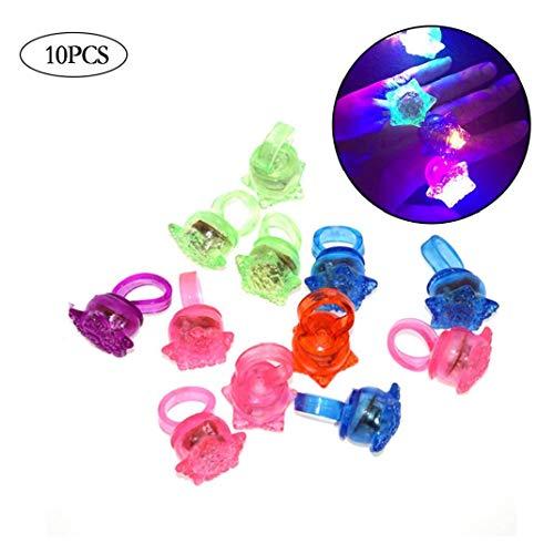LED Leuchten Ringe Preise Für Kinder Klassenzimmer Glow In The Dark Party Supplies Groß Neuheit Glow Jelly Blinzeln Toy Ringe ()