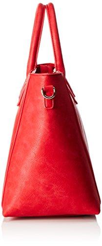 Buffalo BAG BWG-06 Leather PU, Borsa con Maniglia Donna, 20x30x36 cm (B x H x T) Rosso (Red)