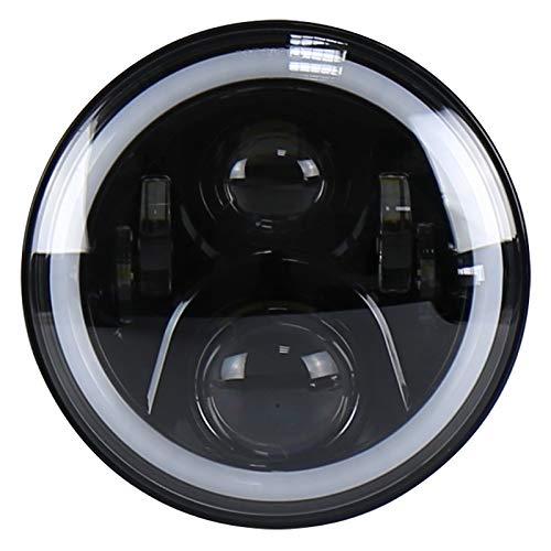 Sdsa8da Wrangler Harley da 7 Pollici modificato for fari tondi a Due Colori Angel Eye LED Headlight