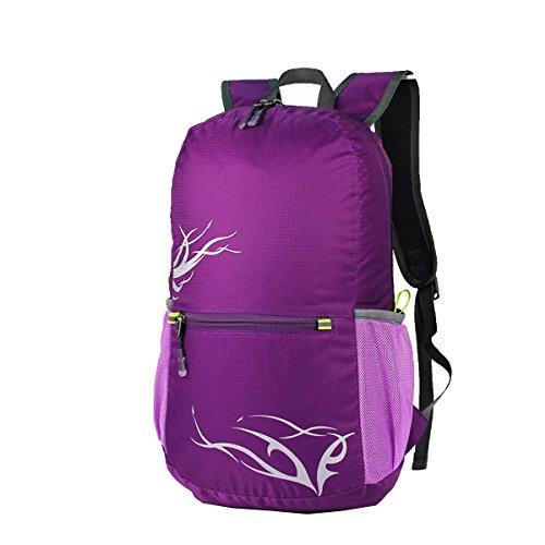 Zaino Xin.S15-20L Esterno Sacchetto Di Spalla Pieghevole Sport Borsa Da Viaggio Per L'alpinismo Borsa Impermeabile E Leggera Della Pelle Zaino Multifunzionale. Multicolore Purple