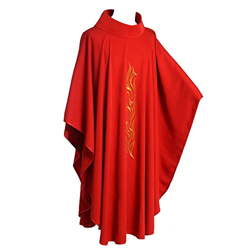 BLESSUME Kirche Priester Chasuble Weste Roll Kragen ()