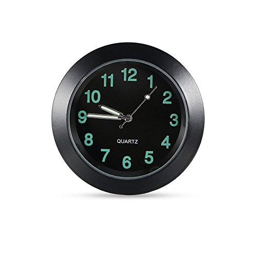 ONEVER Auto Entl¨¹fter Clip Uhr Auto Luminous Armaturenbrett-Taktgeber Auto-Innenraum-Quarz-analoge Uhr