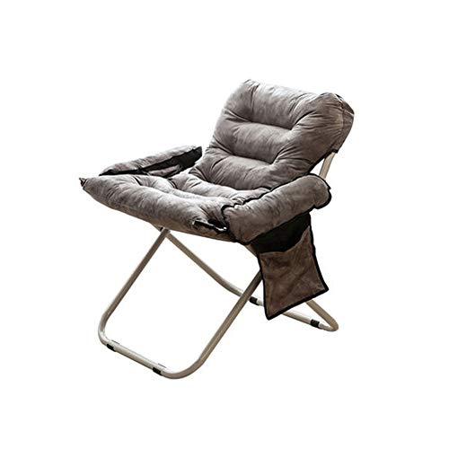 Gekrümmten Rücken Couch (LQ-putongyizi Lazy Couch - Single College Dormitory Lounge Chair Für Zuhause/Waschbar/Falten/Schlafzimmer/Balkon Schwarz 76x66x91CM (Color : Gray, Size : 70x66x91CM))