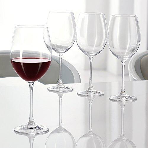 Spiegelau & Nachtmann 4-teiliges Rotwein-Pokal-Set, Kristallglas, 727 ml, Vivendi, 0092035-0
