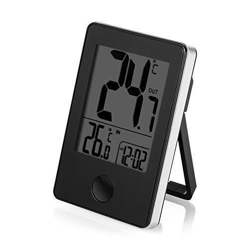 TS–C01Fernbedienung Kabelloser Digital Indoor Outdoor Thermometer Schreibtisch Uhr Smart Home