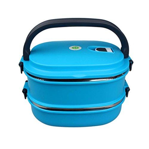 Mehrschichtige Isolierung (Zolimx Mehrschichtige Edelstahl Isolierung Nahrungsmittelbehälter Griff Mittagessen Bento Box)