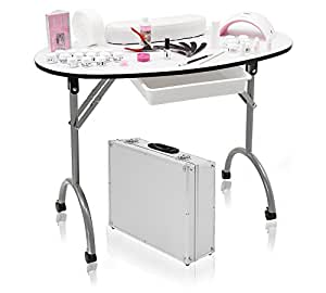 mobile nagelstudio tisch set und uv led lampe beauty. Black Bedroom Furniture Sets. Home Design Ideas