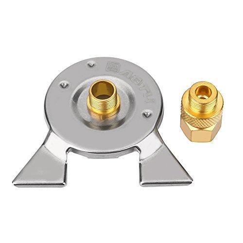 VGEBY Gas Tank Konverter, Mini Herd Brenner Adapter Propan Gasgrill Stecker Adapter Kopf + Adapter Basis + Aufbewahrungstasche -