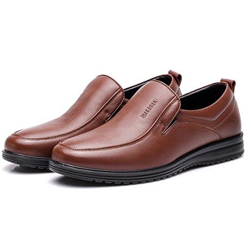 Uomo Inverno Tenere caldo Attività commerciale Scarpe di pelle Confortevole Vestito formale Plus cashmere Stivali Scarpe da lavoro euro DIMENSIONE 38-44 Brown
