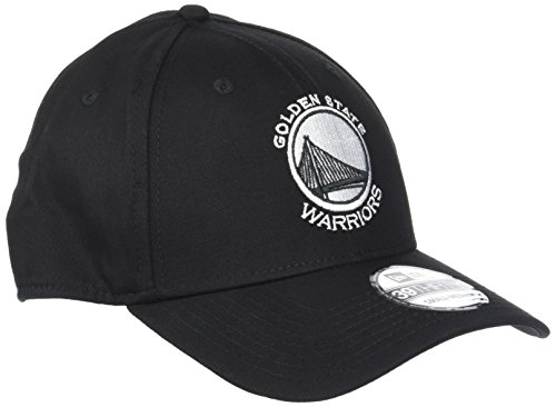 New Era Monochrome 3930 Golden State Warriors Black Cap 39THIRTY Black