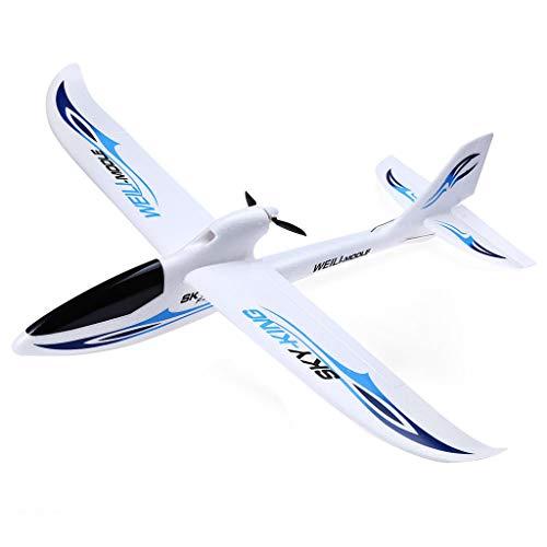 Fulltime E-Gadget RC Flugzeug Spielzeug Sky King 2.4G 3CH RC-Flugzeug Starrflügelfernsteuerungs Flugzeug (Blau)