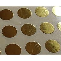 150 Etiquetas, 10mm Diámetro Redondo Círculos, Dorado, Pegatinas Autoadhesivas, Minilabel Formas