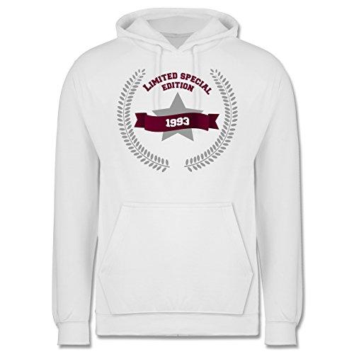 Geburtstag - 1993 Limited Special Edition - Männer Premium Kapuzenpullover / Hoodie Weiß