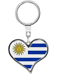 metALUm Llavero de metal / Bandera Uruguay / 6611085S