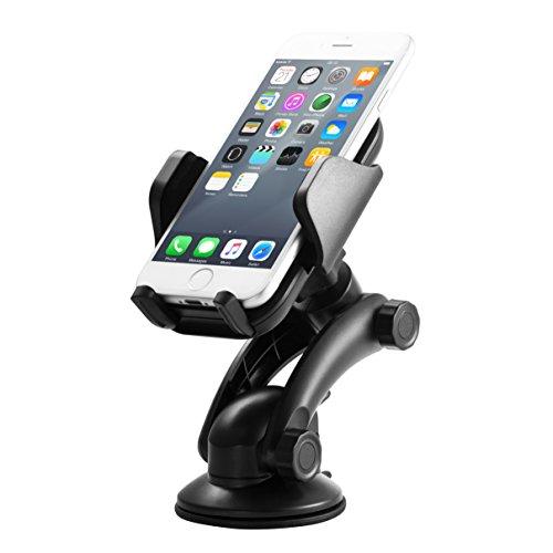 Supporto Auto Smartphone YXwin Universale Supporto Cellulare Auto 360 Gradi di Rotazione Porta Cellulare Auto per iPhone 7/7 Plus/6S/5S, Galaxy S5 / S6 / S7 / S8,LG,Huawei e Altro