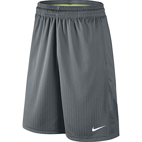 Nike Squad Fleece Track Jacke, Herren, Layup 2.0, Kurze Hosen, Herren, 718344, Cool Grey/Weiß, L - 2-track-jacke