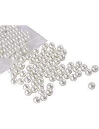 ICY WHITE BEADS FOR JEWELLERY MAKING (PACK OF 250)