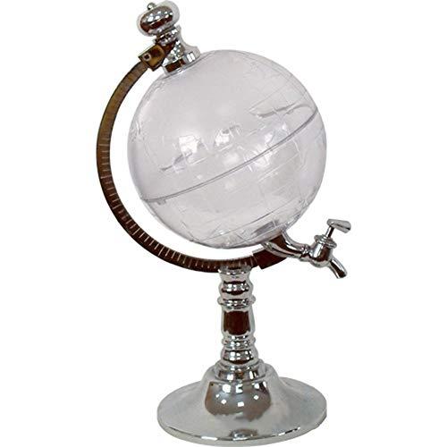 Unique Globe Shape Night Club Beverage Liquor Liquid Drinking Dispenser silver -