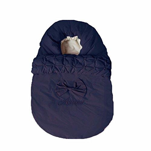 T-tlkj sacco a pelo del bambino swaddling il sacco a pelo imbottito per bebè anti-kick è tenuto da un sacco a pelo baby, blu nascosto, 90 cm