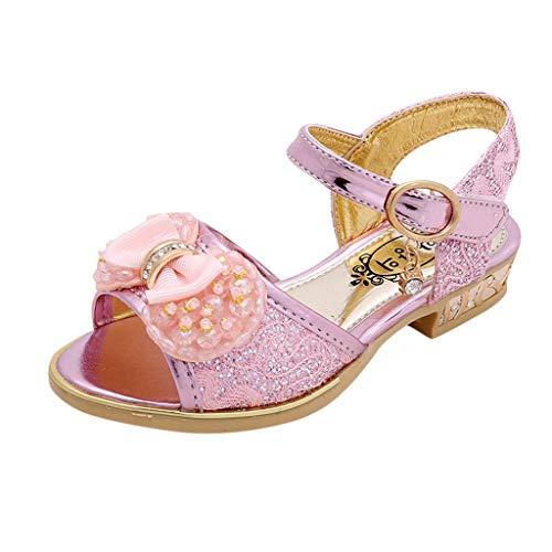 DIASTR Mädchen Blume Perle Fisch Mund Flache Sandalen, Baby Mädchen Sommer Bogen Sandalen Schöne Tanzschuhe Partei Schuhe Schuhe Mädchen Baby Prinzessin Schuhe